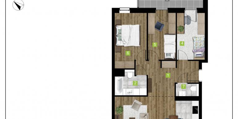 mieszkania na sprzedaż rzeszów  - budynek D - nr 7