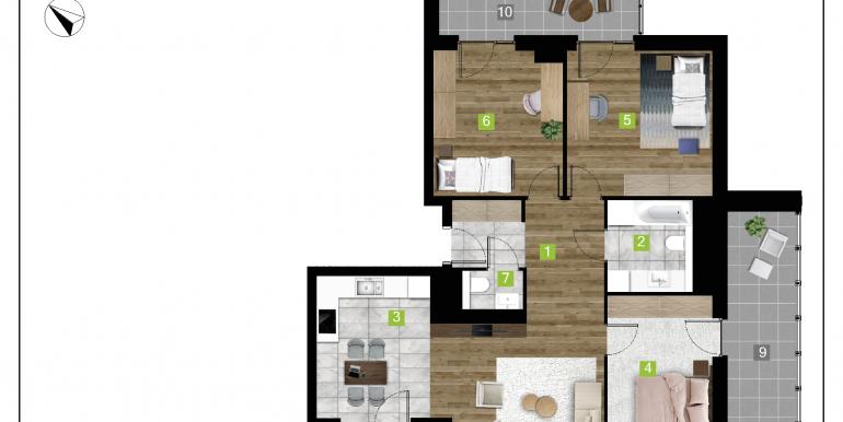 mieszkania na sprzedaż rzeszów  - budynek D - nr 11