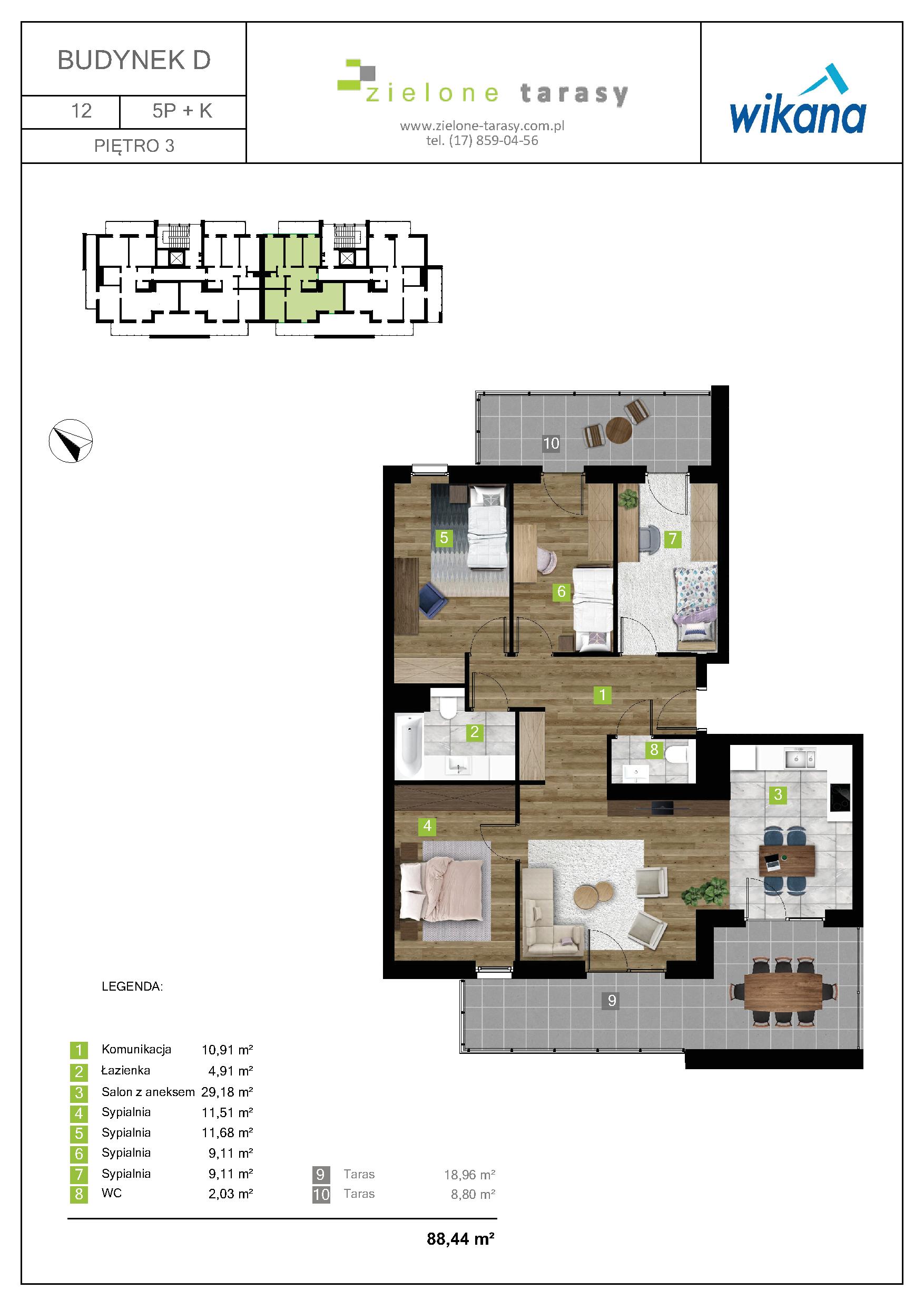 Pięciopokojowe Mieszkanie 8844 M2 Zielone Tarasy