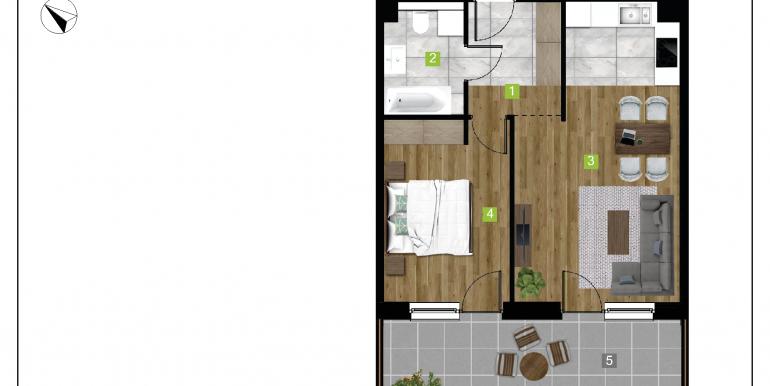 mieszkania na sprzedaż rzeszów  - budynek D - nr 14