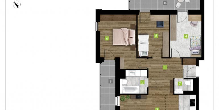 mieszkania na sprzedaż rzeszów  - budynek D - nr 18