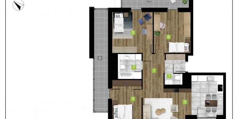 mieszkania na sprzedaż rzeszów  - budynek D - nr 23