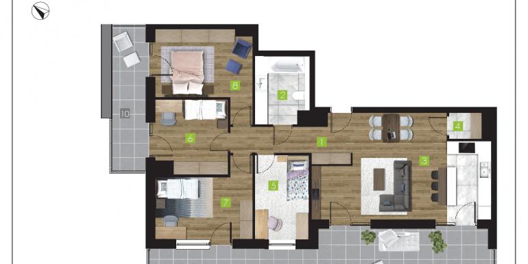 mieszkania na sprzedaż rzeszów  - budynek O - nr 21